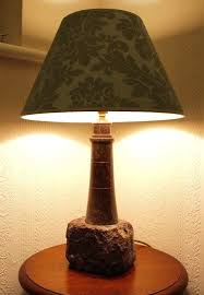 decoration geometric gold stone base table lamp lighthouse made from serpentine polished