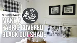 fabric window shades diy.  Shades How To Make A Fabric Covered Black Out Shade  Our Guest Cottage Bedroom  Reveal  YouTube And Window Shades Diy E