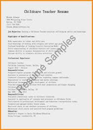 Sample Child Care Worker Cover Letter Cover Letter For Resume