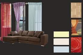 carpets blend with dark brown furniture