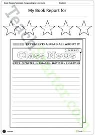 Newspaper Book Report Template Class News Template Free Newsletter Templates For Teachers