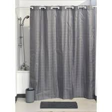 newhookless shower curtain polyester cubic color matching hooks 71 in l x 79 in h 180 x 200 cm grey