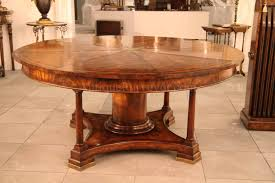 round mahogany radial dining table with jupe patent action gallery extra large tables pictures