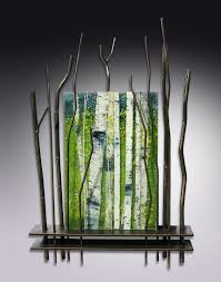 a moment in spring by leslie w friedman art glass metal wall sculpture on custom metal wall sculptures with a moment in spring by leslie w friedman art glass metal wall