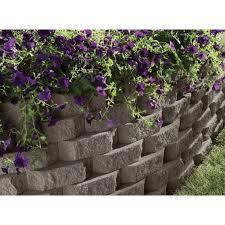 dark gray concrete garden wall block