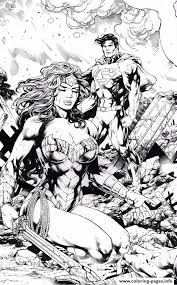 wonder woman and superman by miltonwiller dc comics coloring pages