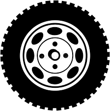 tires clipart black and white. Tire For Car Or Tires Clipart Bus Wheel Banner Library Inside Black And White