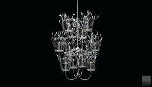 full size of jolie antique black drum shade crystal semi flush mount chandelier organza silver mist