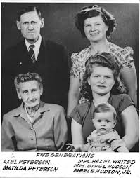 Five generations of the Frank Edward Peterson family - Jim Annin Photo  Collection - Montana Memory Project
