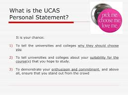Writing The Ucas Personal Statement Ppt Download