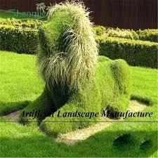 fake shrubs decorative fake grass moss artificial shrubs topiary animal shape lion bear swan elephant topiary fake shrubs