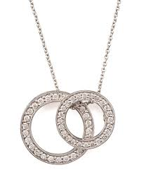 roberto cointwo circle pendant necklace