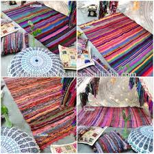 Small Picture Wholesale Bohemian Indian Rag Rug Affordable Throw Recycled Home