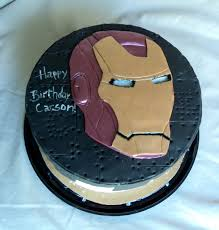 Delectable Cakes Small Iron Man Birthday Cake