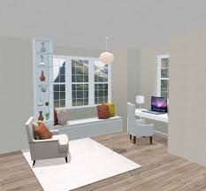 in home office. Home Office In A Room Alcove Facing Window E