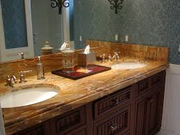 marble vanity custom edge and undermount sink