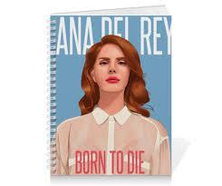 Тетрадь на пружине <b>Lana Del</b> Rey #1850015 от Jimmy Flash