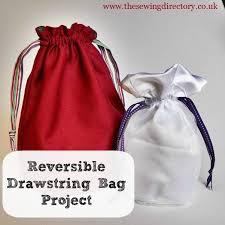 reverisble drawstring bag tutorial