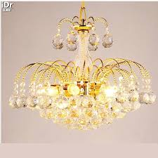 chandelier in contemporary gold