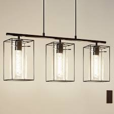 triple pendant lighting. loncino triple pendant light in black steel and smoked glass lighting p
