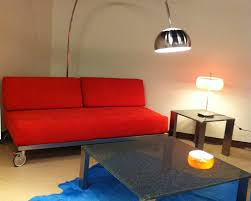 Orange fabric sofa bed San Francisco Bay Area Furniture store