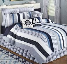 blue and white striped quilt best set nice quality bedding with thin blanket