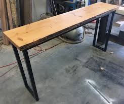 recycled industrial furniture. recycled oregon industrial hall console table with black metal legs furniture l