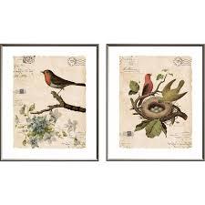 birds 2 piece framed wall art set on set of 2 framed wall art with august grove birds 2 piece framed wall art set wayfair