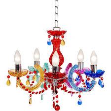 arabesque multi coloured pride chandelier