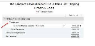 Quickbooks Earnest Money Deposit Lost