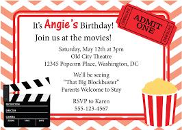 Movie Night Invitations Free Under Fontanacountryinn Com