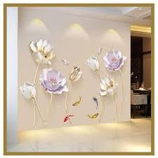 Best <b>3D Flower Wall Sticker</b>   Flower wall decor, 3d wallpaper for ...