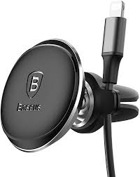 <b>Baseus Magnetic Air Vent</b> Car Mount Holder with Cable Clip (Black ...