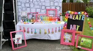 art party table setup 2 dimpelprints