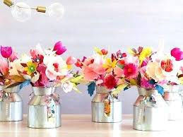 Tissue Paper Flower Centerpieces Paper Flowers Centerpieces For Weddings Auroravine Com