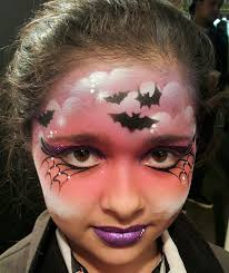 face painting using stencils