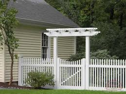picket fence gate with arbor. Vinyl Arbor\u0027s \u0026 Pergola\u0027s. Fencing Picket Fence Gate With Arbor