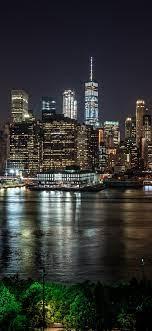 Wallpaper New York at night, city ...