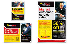 Auto Repair Flyer Auto Repair Flyer Ad Template Design