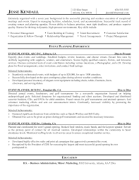 Ideas Of Event Resume Sample Free Special Events Planner Resume
