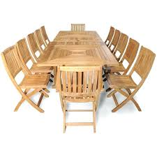 grand teak piece dining set 13 montreal outdoor setting regal
