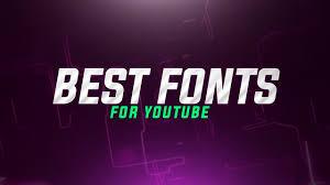 Best Font For Banner Design Best Fonts For Gaming Thumbnails