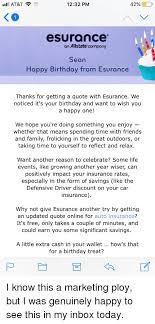 Esurance Quote Beauteous AtT 48 PM 48% 48 Esurance An Allstate'company Sean Happy Birfhday