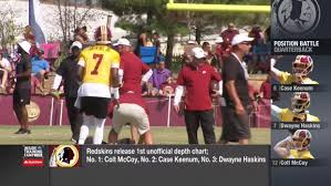 Whos No 1 Washington Redskins Release First Unoffical