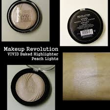 makeup revolution baked highlighter peach lights review
