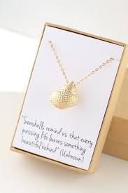 gold seas necklace sea s conch necklace sympathy gift condolence gift memorial bereavement se remind us that