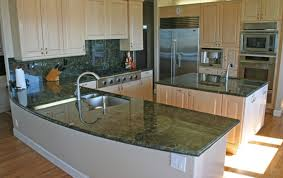 image of green marble kitchen countertops