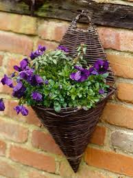 wall hanging garden baskets decorating with pots hanging displays