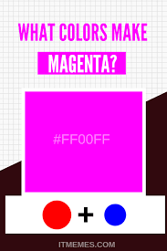 How To Make Color Mixing Chart What Colors Make Magenta Color Mixing Guide Mixing Paint