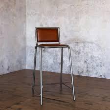 vintage leather metal acre bar stool